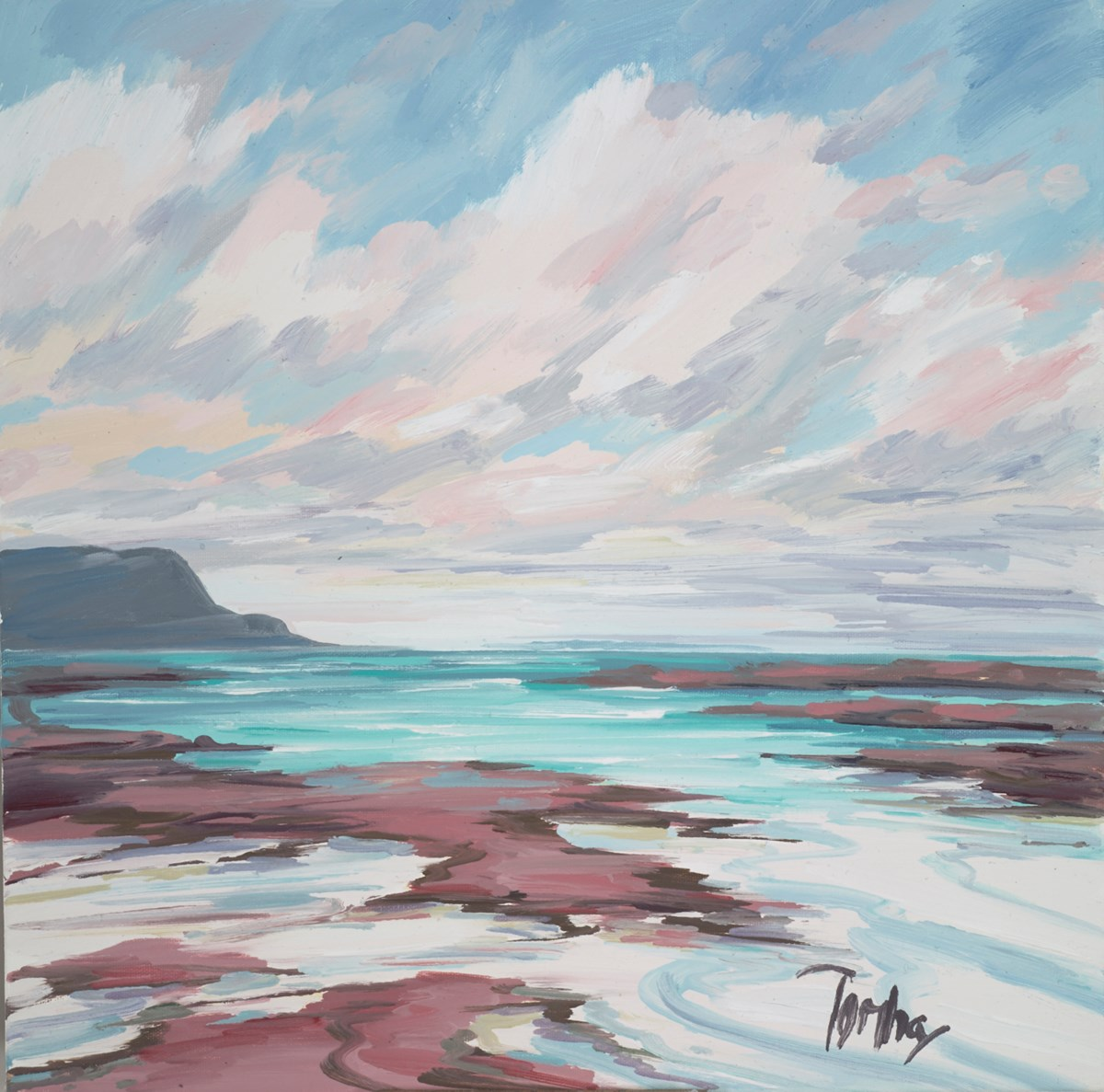 Distant Light, Sanna Bay by tom barron -  sized 16x16 inches. Available from Whitewall Galleries